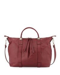 Kooba Joshua Leather Satchel Bag Purple Thi