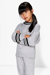 Boohoo Oversized Sports Sweat Jumper Grey