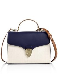 Aspinal Of London Mayfair Croc Tote White