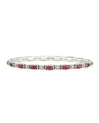 Konstantino Silver Multicolored Garnet Bangle Bracelet