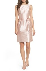 Alfred Sung 'S Boatneck Sheath Dress Pearl Pink