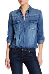 Joe's Jeans Melani Button Up Shirt Blue