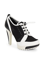 Bcbgeneration Wizard Colorblock Mesh And Faux Leather Booties Oxford