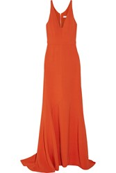 Narciso Rodriguez Stretch Crepe Gown Bright Orange