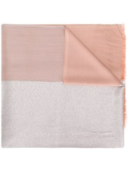 Twin Set Panelled Scarf Pink