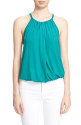 Women's Trina Turk 'Imma' Bubble Hem Halter Top