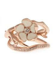 Shaun Leane Diamond And Rose Gold Plated Set Of Two Rings