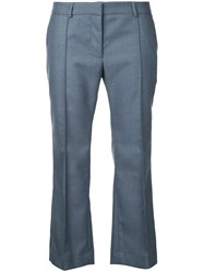 Rokh Cropped Flared Trousers Women Wool 34 Grey