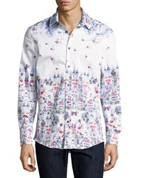 1 Like No Other Colorful Floral Print Button Front Sport Shirt Multi