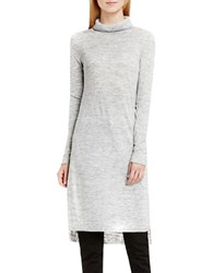 Vince Camuto Marled Linen Long Sleeve Tunic Grey