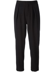 See By Chloe Cropped Tapered Trousers Black