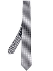 Etro Houndstooth Pattern Tie Men Silk One Size Black