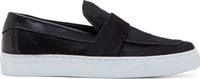 Diemme Black Calf Hair Como Sneakers