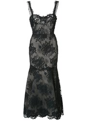 Monique Lhuillier Lace Maxi Dress Black
