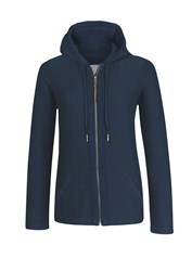 Fat Face Hemsby Textured Hoodie Blue