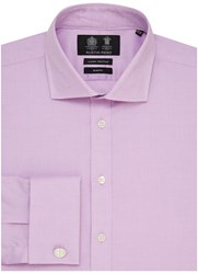 Austin Reed Slim Fit Two Fold Oxford Shirt Lilac