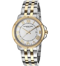 Raymond Weil 5591 Stp 00308 Tango Stainless Steel Gold Plated Watch