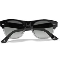 Gucci Square Frame Acetate Sunglasses Black