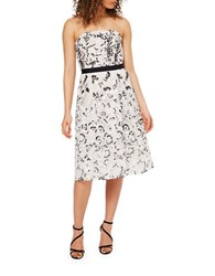 Miss Selfridge Floral Applique Strapless Dress Multi