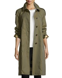 Burberry Oversized Cotton Trenchcoat Olive