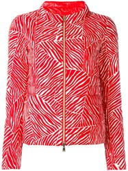 Herno High Neck Puffer Jacket Red