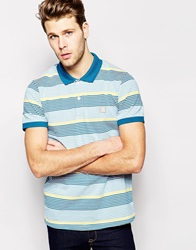 Bench Stripe Pique Polo Blue