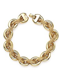 Bloomingdale's 14K Yellow Gold Link Bracelet With Textured Interweave