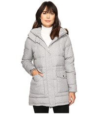Lauren Ralph Lauren Printed Anorak Down Grey White Women's Coat Gray