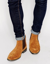 Base London Suede Chelsea Boots Beige