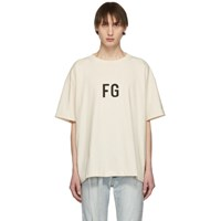 Fear Of God Ssense Exclusive Off White 'Fg' T Shirt