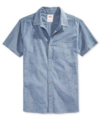 Levi's Men's Short Sleeve Chambray Shirt Blue