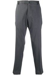 Dell'oglio Tailored Cropped Trousers Grey