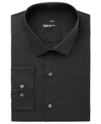 Bar Iii Men's Slim Fit Stretch Easy Care Black Circle Dot Print Dress Shirt Created For Macy's