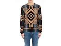 Valentino Men's Geometric Cashmere Sweater No Color