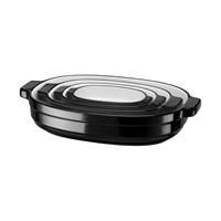 Kitchenaid 4 Piece Nesting Ceramic Bakeware Set Onyx Black