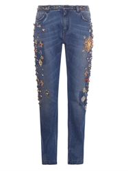 Dolce And Gabbana Embellished Boyfriend Jeans