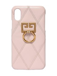 Givenchy Quilted Leather Iphone X Phone Light Pink