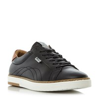 Barbour Howdon Leather Cupsole Trainers Black