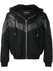 Les Hommes Hooded Jacket Black