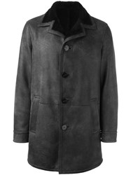 Neil Barrett Single Breasted Coat Grey