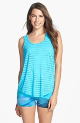Women's Hard Tail Slouchy Racerback Tank Surf