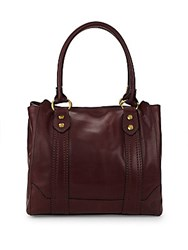 Frye Melissa Leather Tote Bag Wine