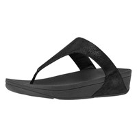 Fitflop Shimmy Suede Toe Thong Sandals Black