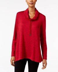 Styleandco. Style Co. Melange Cowl Neck Sweatshirt Only At Macy's New Red Amore