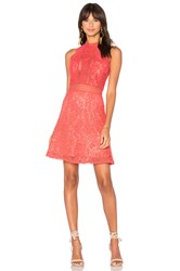 Rebecca Taylor Arella Lace Dress Red
