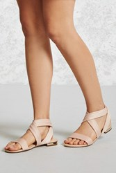 Forever 21 Faux Leather Strappy Sandals
