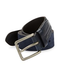 John Varvatos Suede Belt Blue