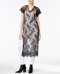Bar Iii Lace Tunic Only At Macy's Deep Black