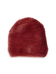 Sherry Cassin Mink Fur Hat Ruby