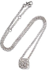 Pomellato Nudo Solitaire 18 Karat White And Rose Gold Diamond Necklace White Gold